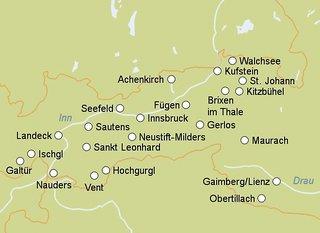 Auracher Löchl, Landkarte